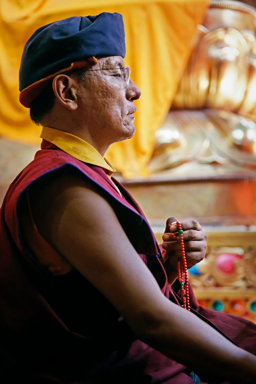 H.H. leading Tsok Offering, Hemis Monastery