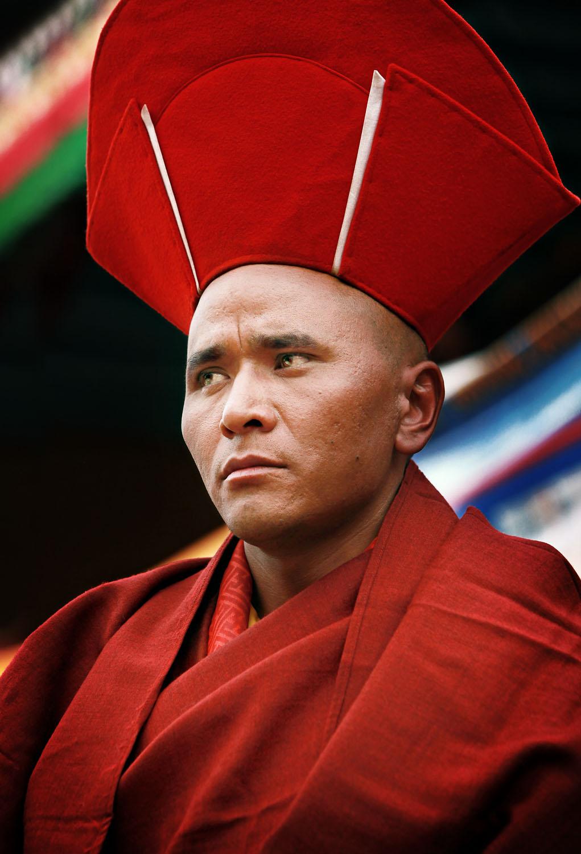 Portrait of a monk, Hemis Monastery