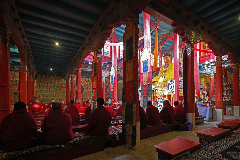 Early morning Puja, Hemis Monastery