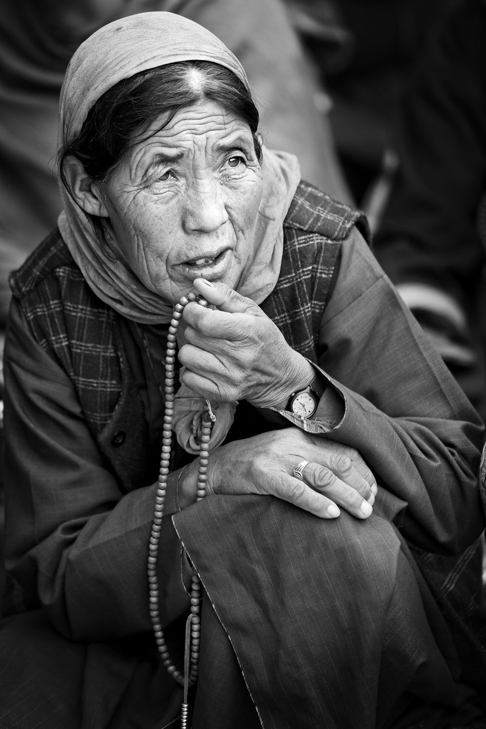 Woman pilgrim, Hemis Gompa, Ladakh, India