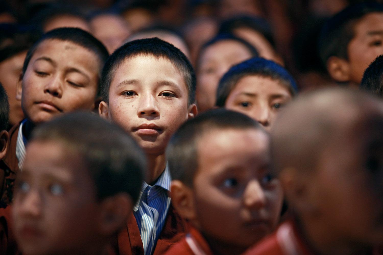 Pupils of Druk White Lotus school, Shey, Ladakh