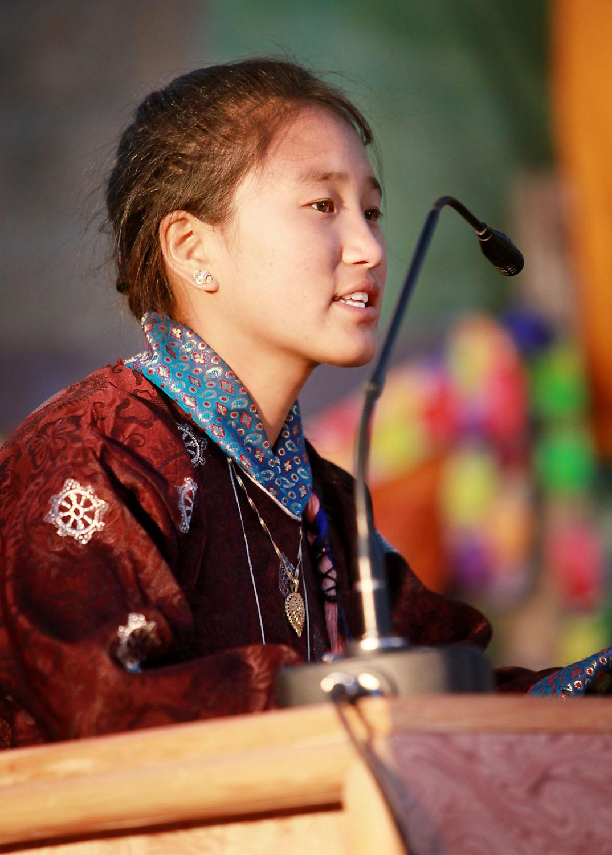 Pupil of Druk White Lotus school, Shey, Ladakh