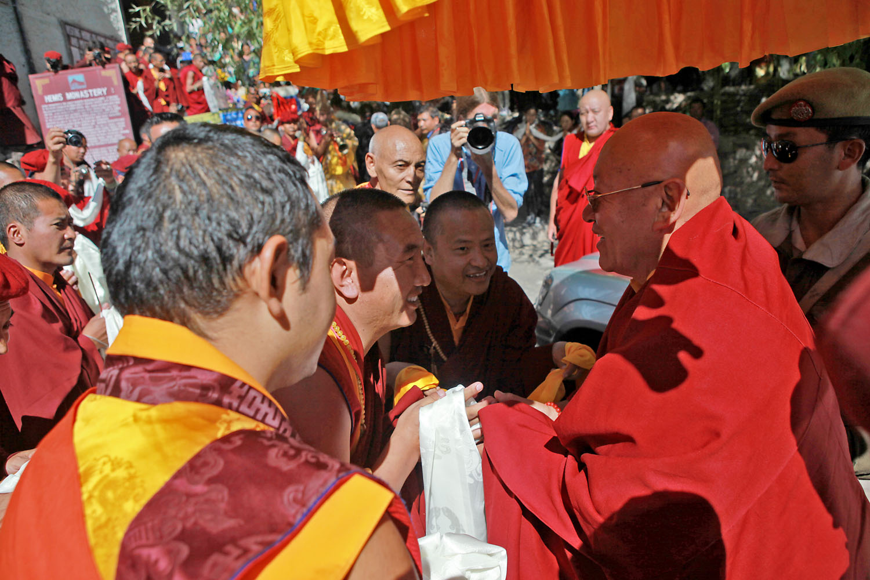 Arrival of Drikung Chetsang Rinpoche, Hemis Monastery