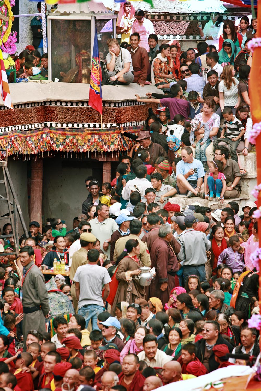 A packed audience, Hemis Monastery