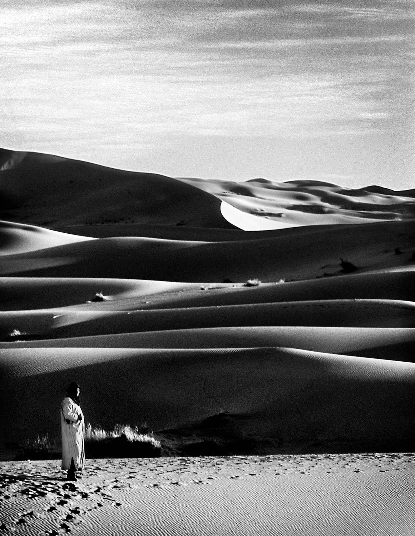 Touareg Desert-scape, Near Merzouga, Southern Morocco