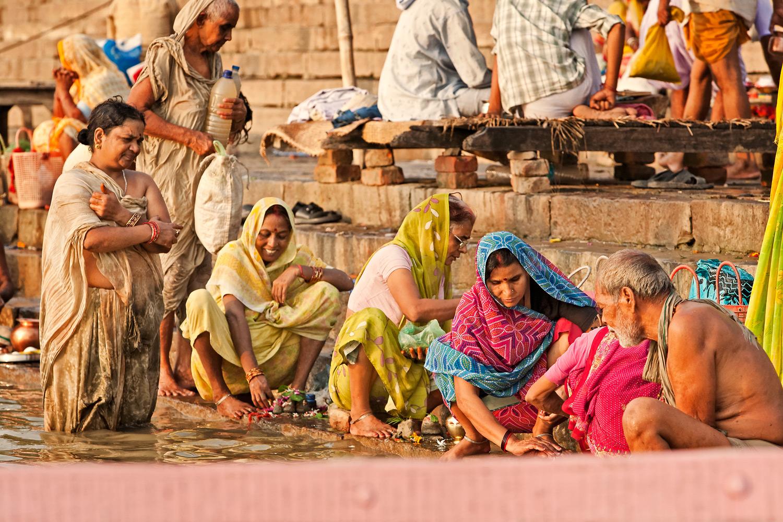 Morning ablutions on the Ghats, Varanasi