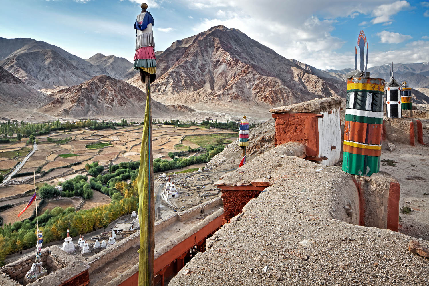 View from the roof, Chemdrey Monastery, Ladakh, India