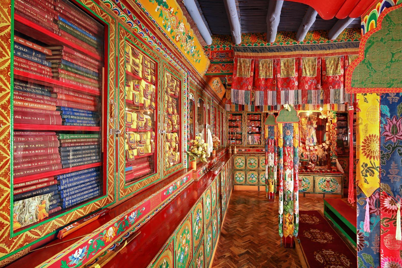 Library, Stakna Monastery, Ladakh, India