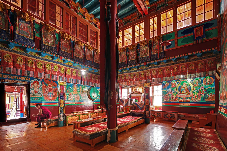 Temple, Stakna Monastery, Ladakh, India