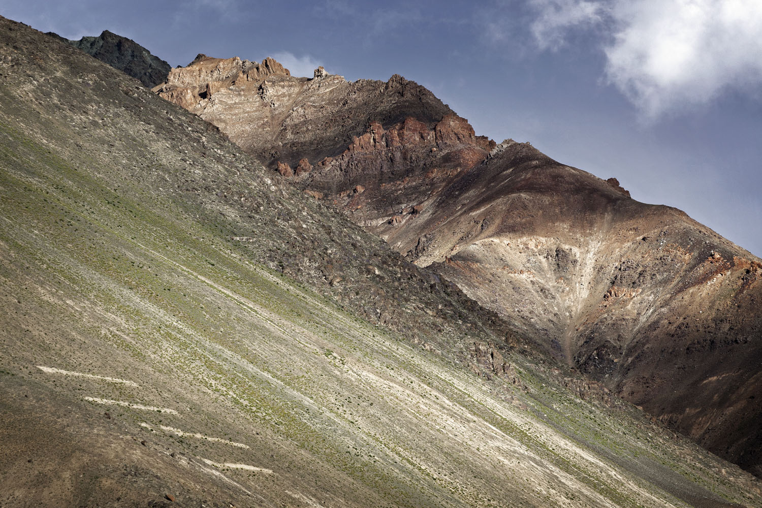 Mountain detail, near Purne, Zanskar, India