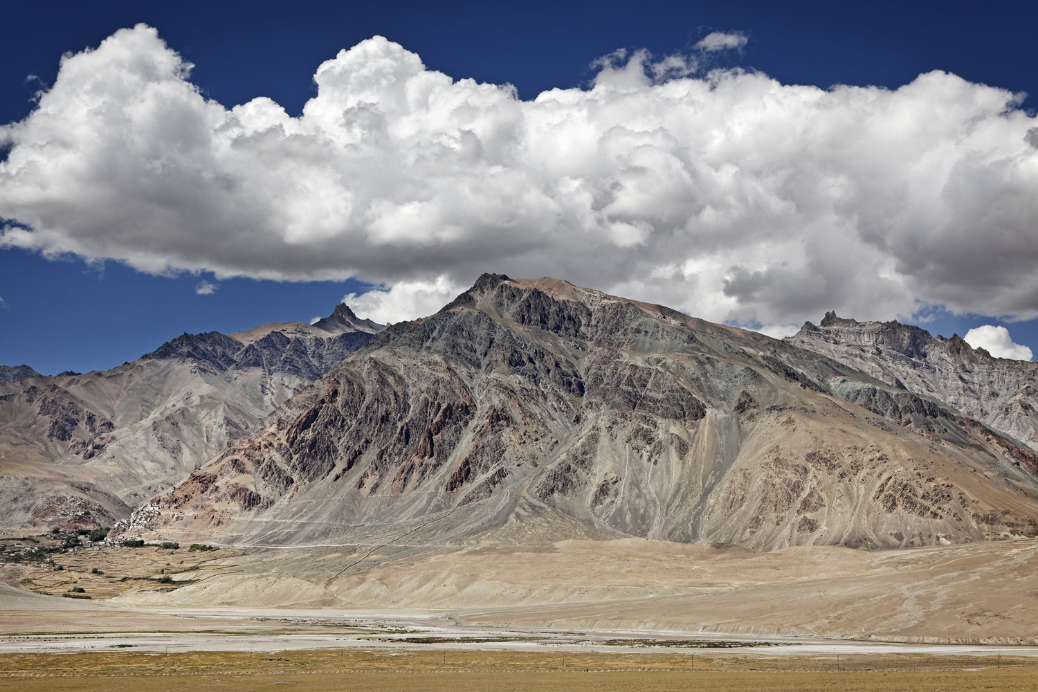 Karsha in the distance, Zanskar, India