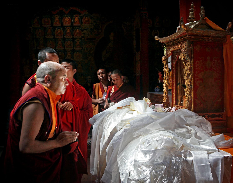 Sacred relic on display, Hemis Monastery, Ladakh