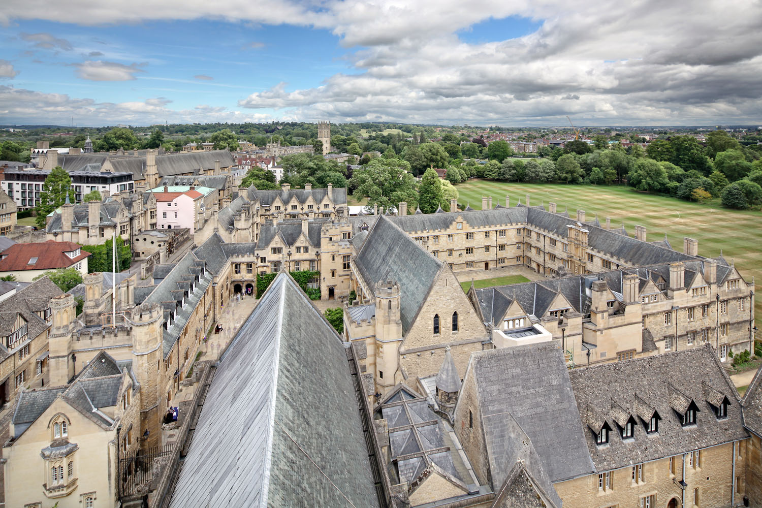 View from Chapel Tower, Merton College, Oxford, UK