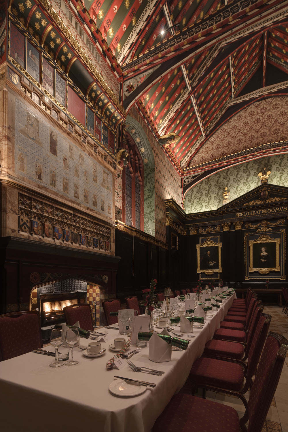 Lighting upgrade - The Old Hall, Queen's College, Cambridge