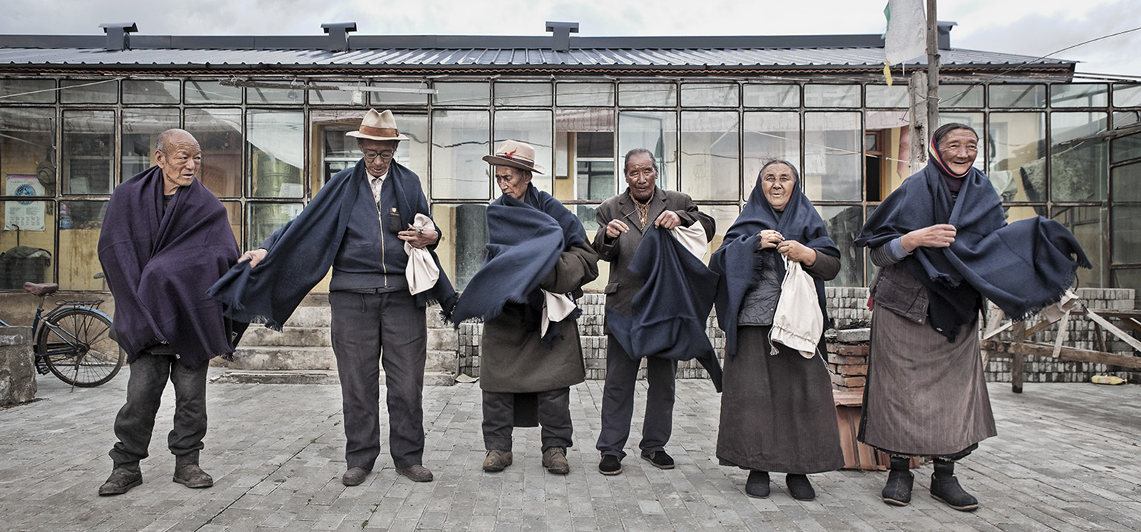 All over 80 year olds in the village of Ritoma, Amdo, Tibet, receive a new scarf for Sagadawa from Norlha Textiles.