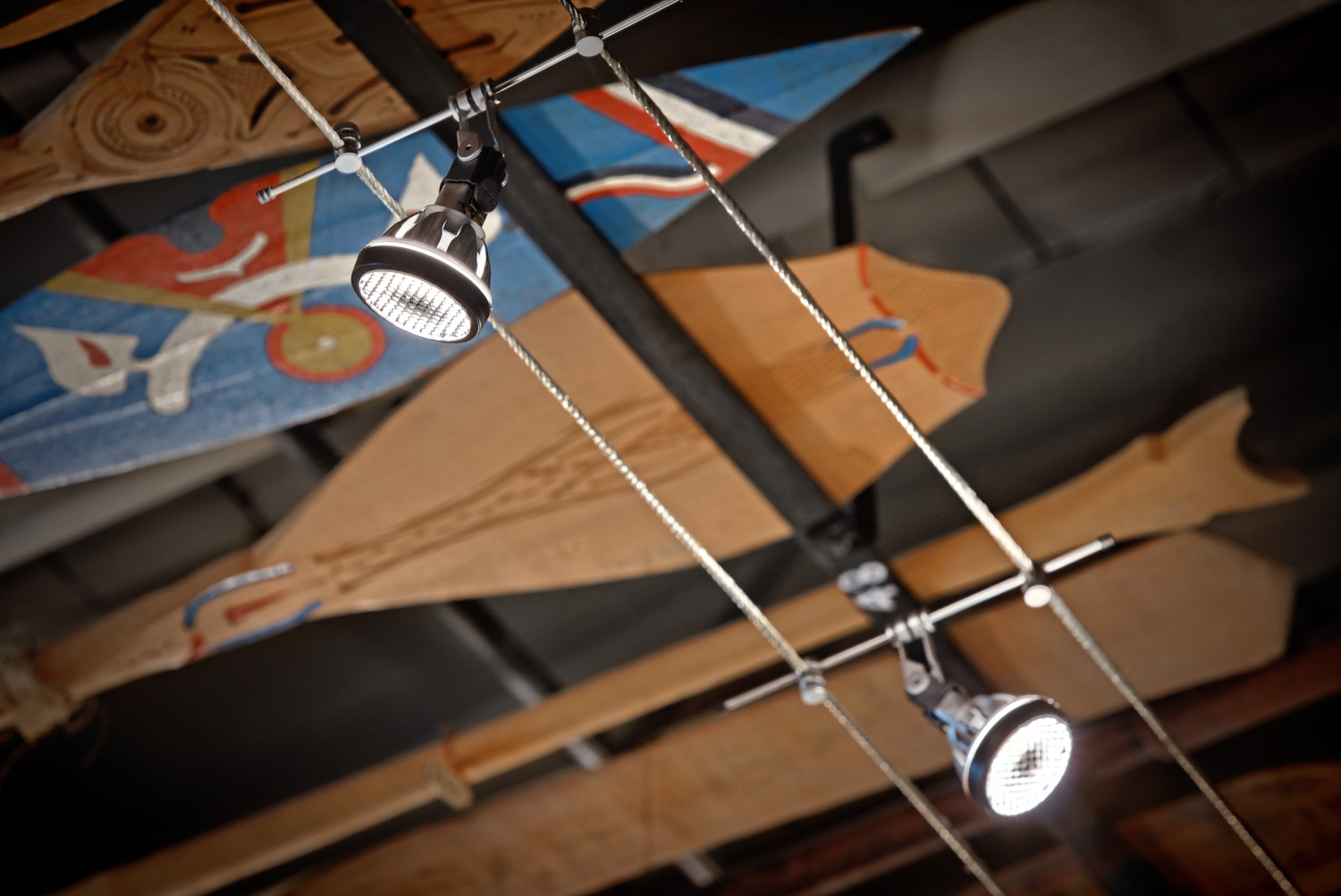 Lighting detail - Pitt Rivers Museum - Oxford
