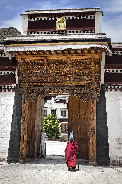 Monk wearing Norlha. Labrang Monastery, Amdo, Tibet