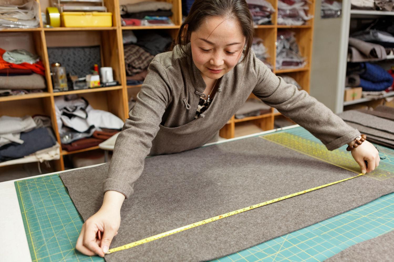 Tailoring in the Norlha atelier, Ritoma, Amdo, Tibet