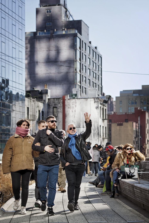"Kohn Pedersen Fox - KPF's new Manhattan development, Hudson Yards including the public sculpture ""Vessel"" by Thomas Heatherwick. Shot from the High Line, Manhattan, New York City, USA."