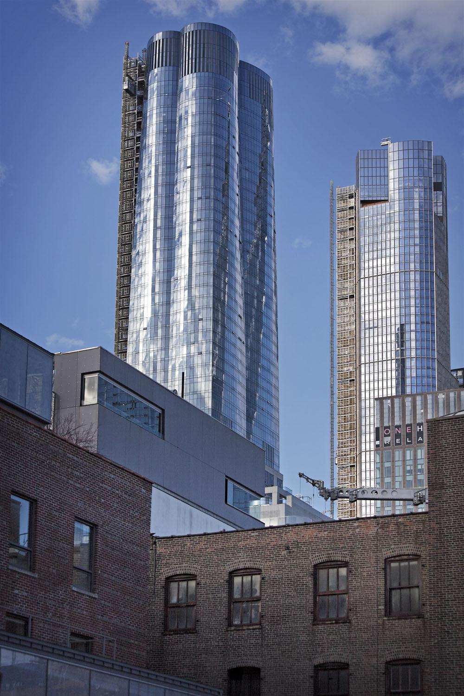 Kohn Pedersen Fox - KPF's new Manhattan development, Hudson Yards. Shot from and around the High Line, Manhattan, New York City, USA.