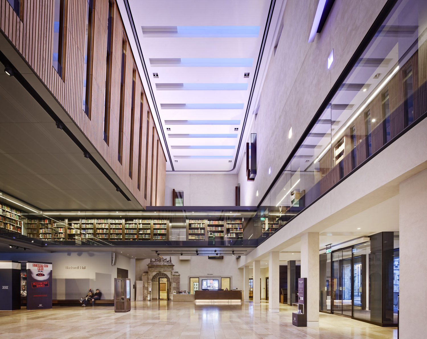 Blackwell Hall, Weston Library, Bodleian Libraries, University of Oxford, Oxford, UK