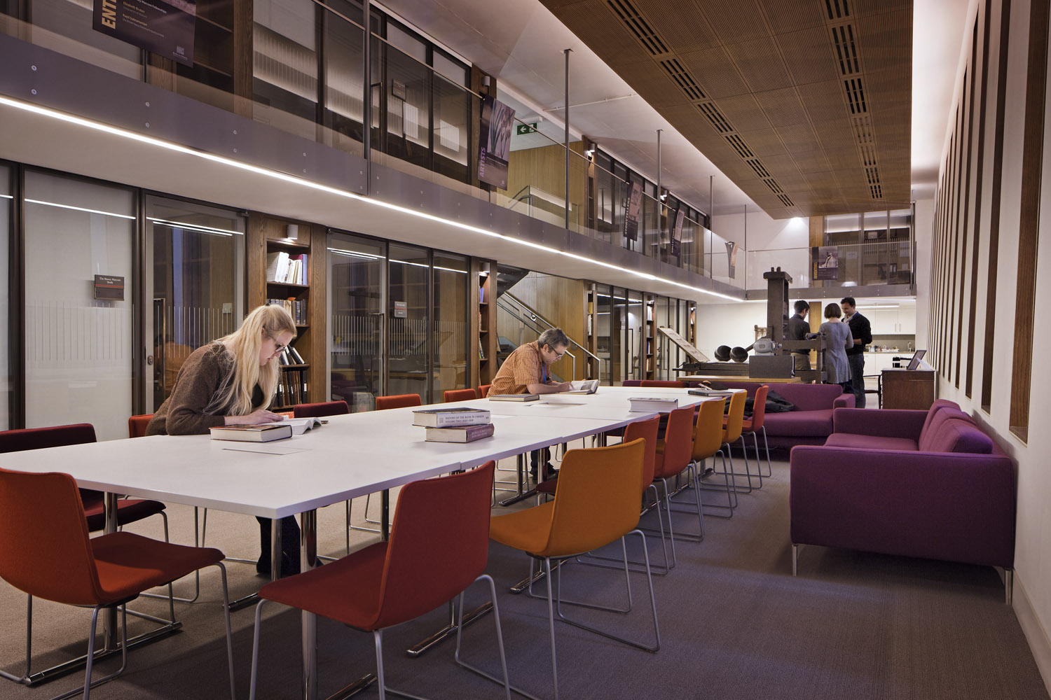 The Visiting Scholar's Center in the Weston Library - part of the Bodleian Libraries, University of Oxford, Oxford, UK
