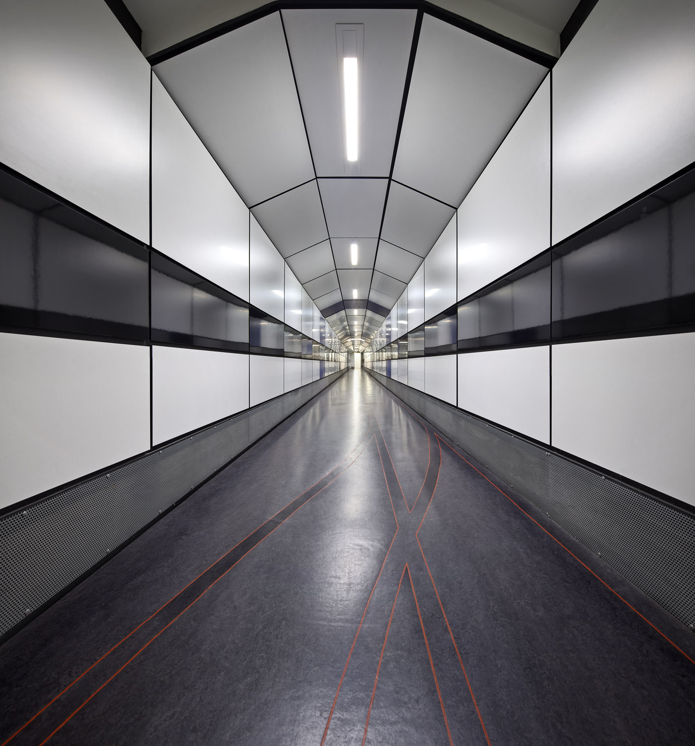 The Gladstone Link tunnel that connects the Bodleian Library to the Radcliffe Camera - part of the Bodleian Libraries, University of Oxford, Oxford, UK