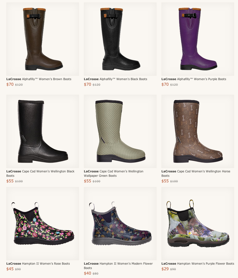 LaCrosse Women's Rubber Boots On Sale