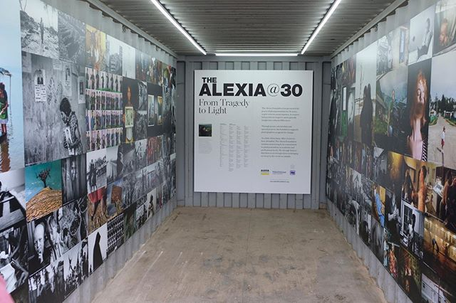 Photoville launched last night and The Alexia container looks amazing, thanks to Bill Marr, Lynn Medford and Eileen Mignoni. Come on down and say hi. I'll be in the space both weekends. #newhouse_vis #alexiafoundation
