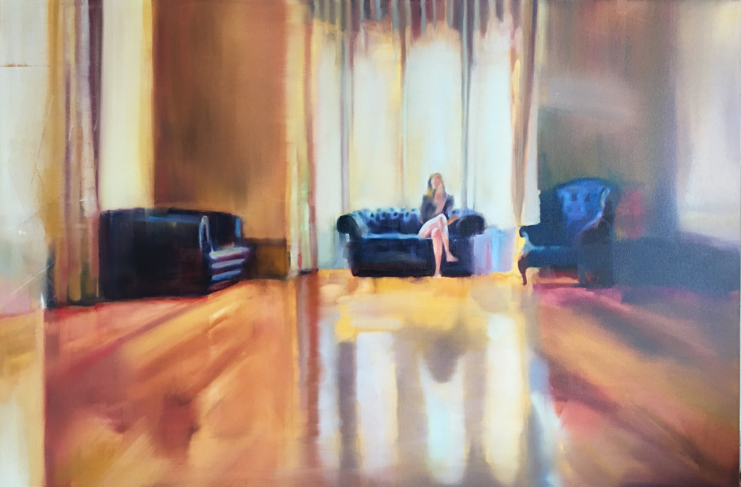 The Three Chairs, oil on canvas, 100x150cm, 2016.