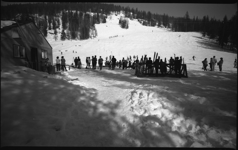 Skiing on Mt. Revelstoke 1965 [DN-72]