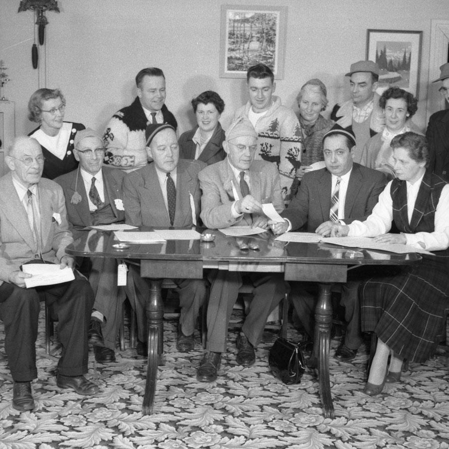 Ski Club Officers, 1957 [DN-915]