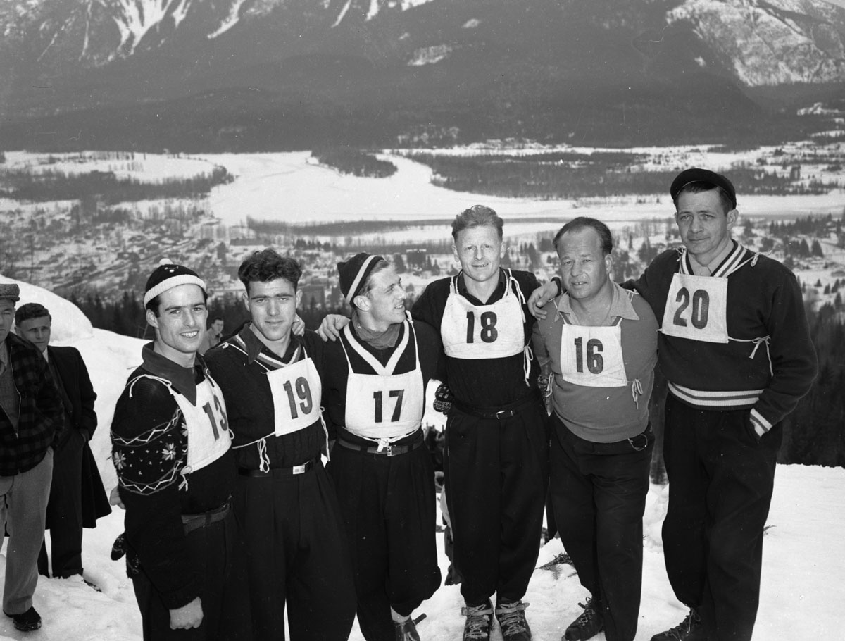Group of Skiers on Mt. Revelstoke, 1949 [DN-998]