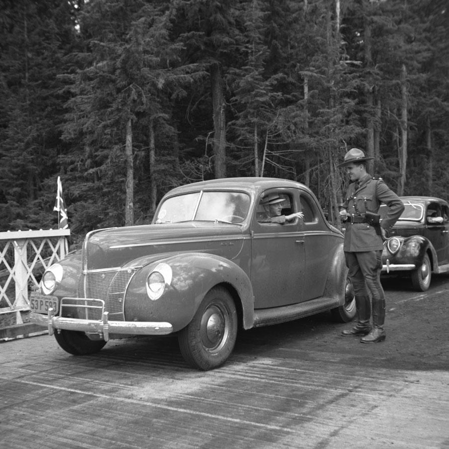 First Car Through at Mica, 1940 [DN-948]