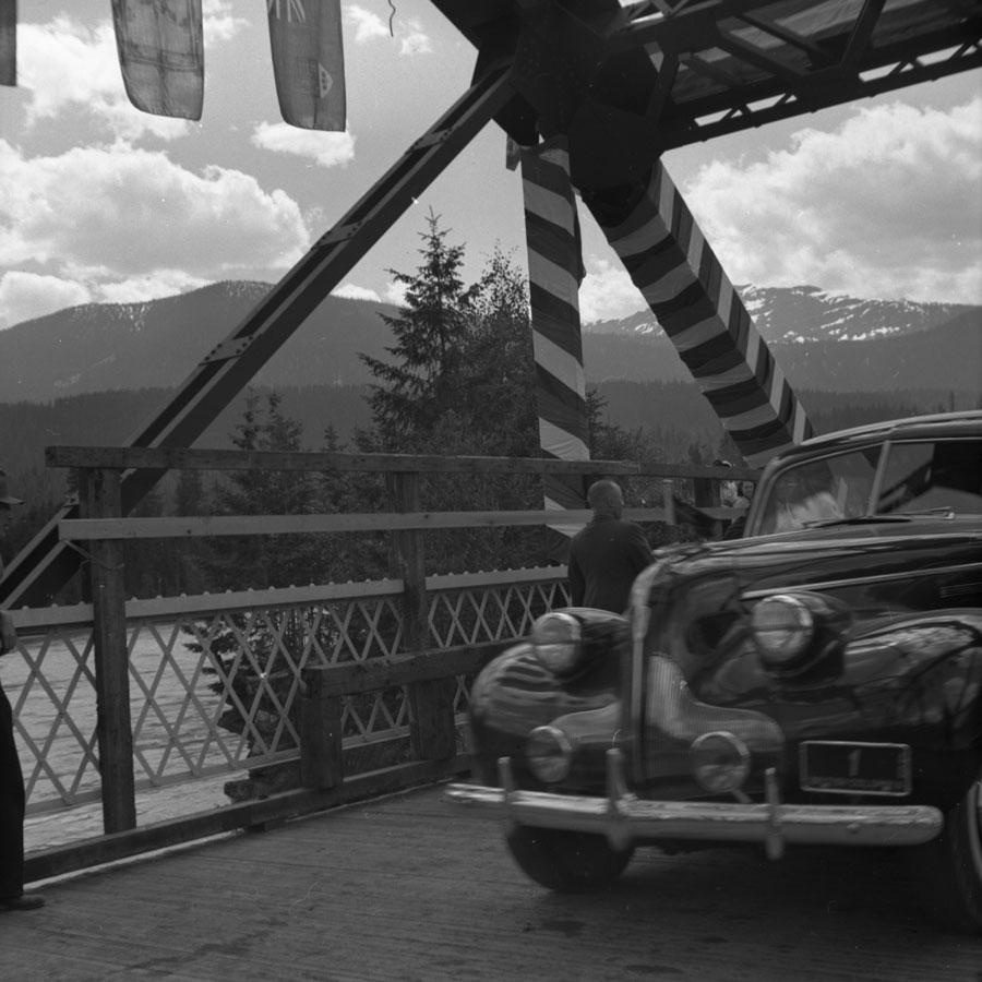 First Car Over Big Bend Bridge, 1940 [DN 949]
