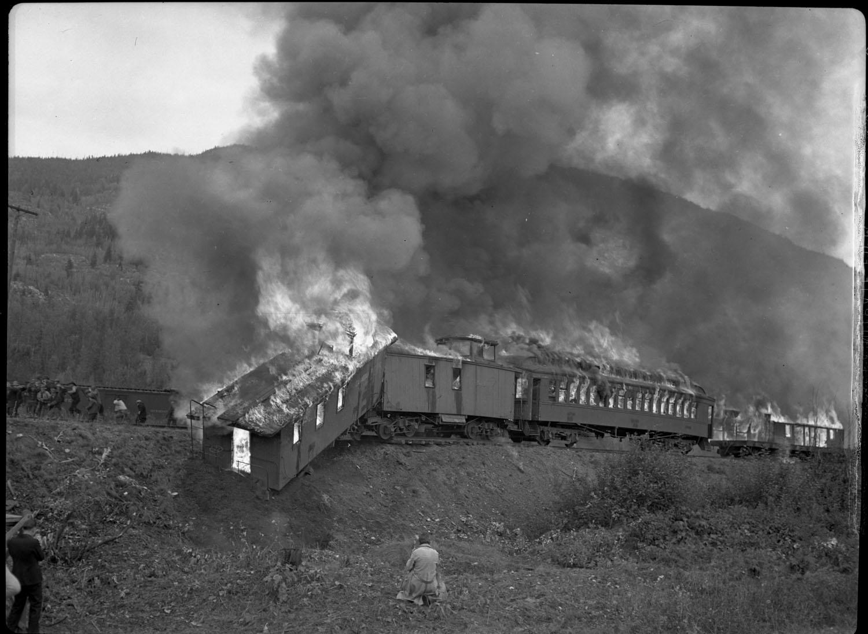 "Train Wreck for ""Silent Barrier"" [DN-41]"