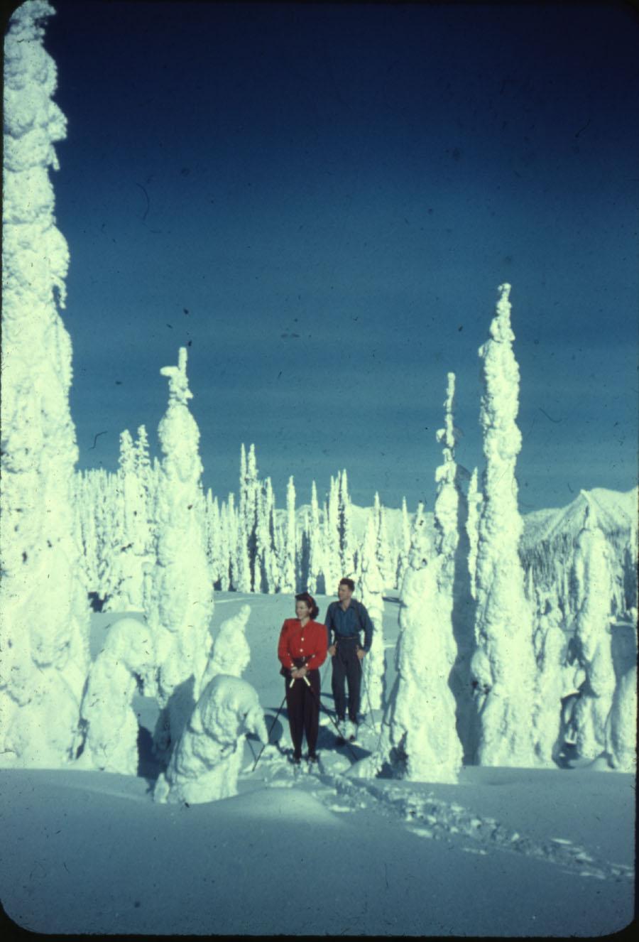 Skiers on Mt. Revelstoke Summit [DC1-50]