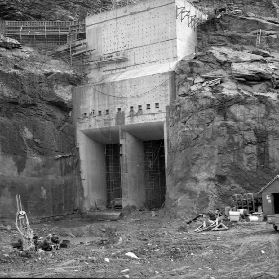 Mica Dam During Construction [DN-494]