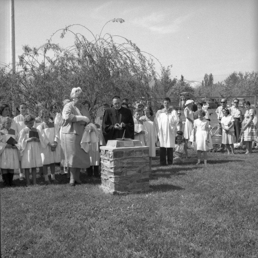 Ceremony Dedicating Sundial [DN-232]