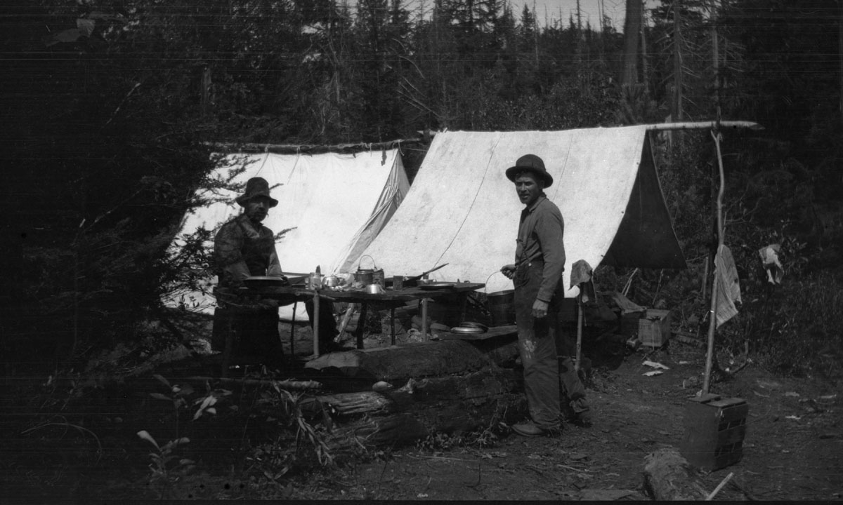 Two Men Camping, c. 1917 [DN-1001]