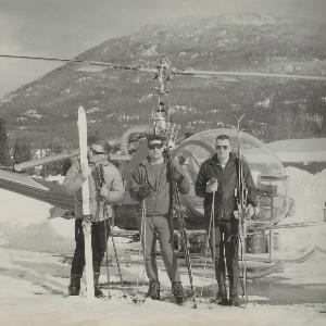 725 Heliskiers prior to leaving for Mt. Macpherson 1964.jpg