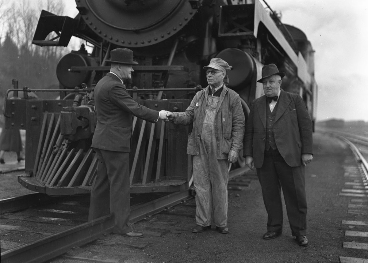 George Williamson's last CPR run, 1940.