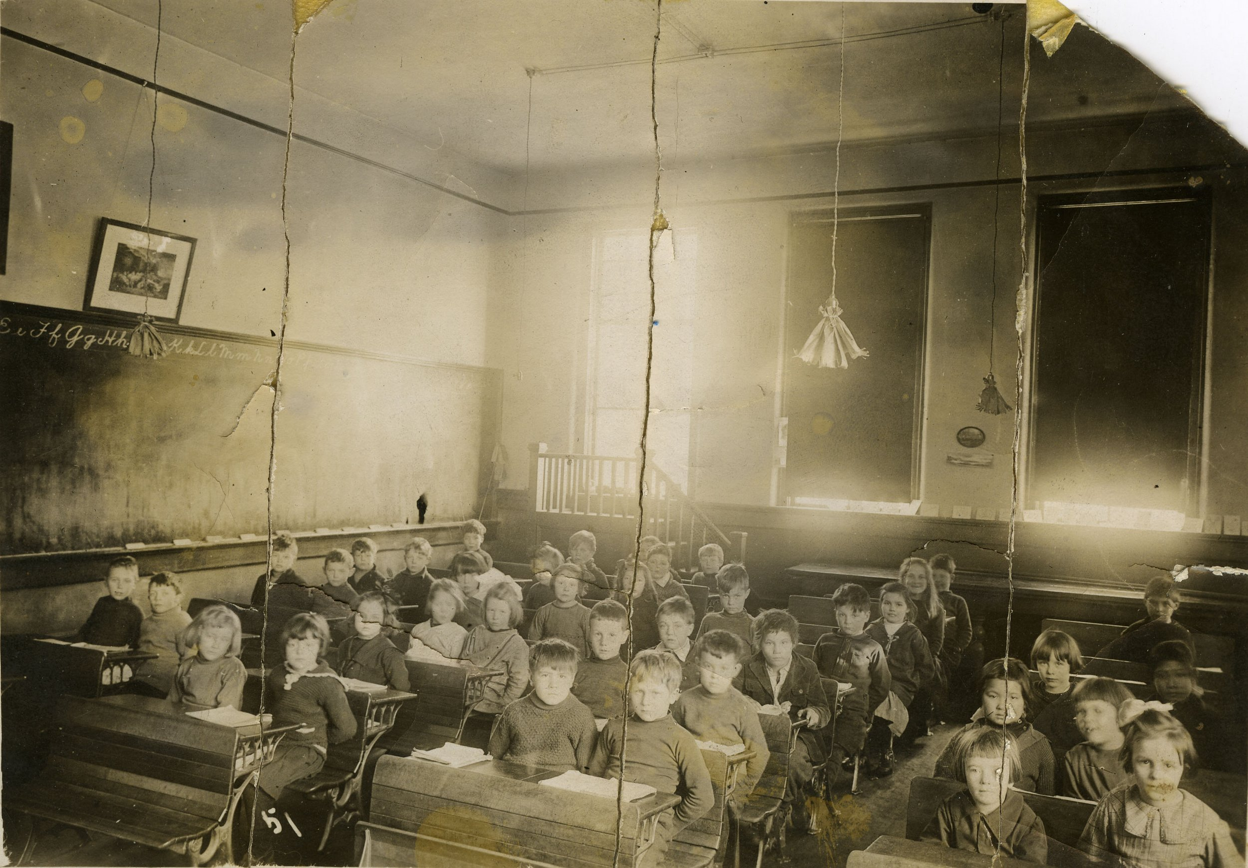 Grade 1 class, Central School, date unknown.