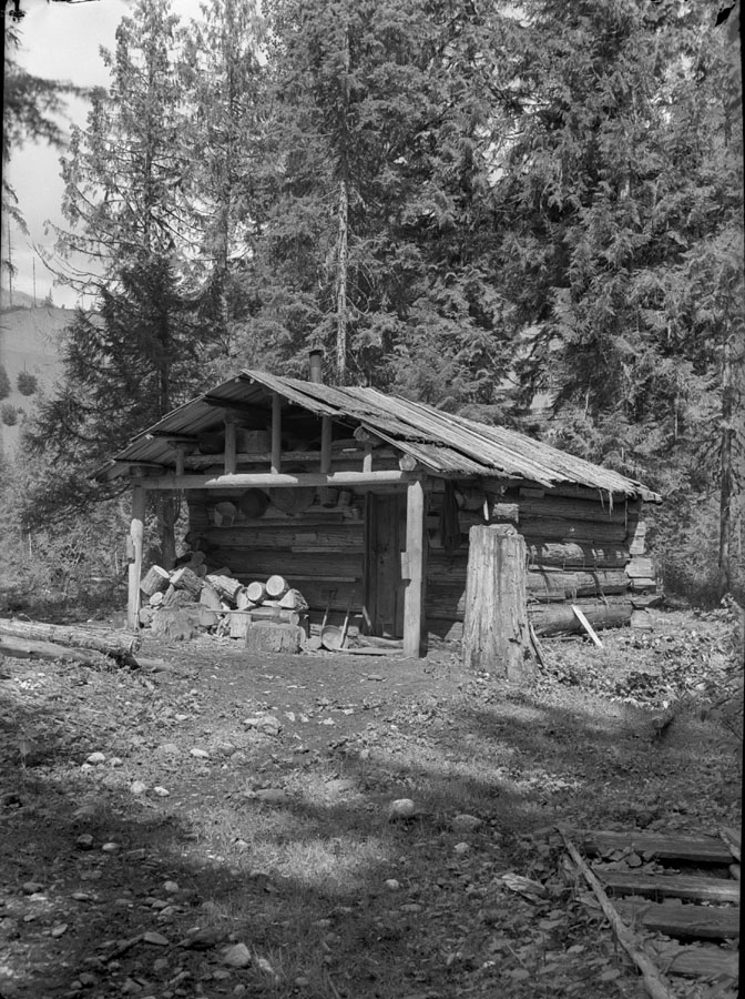McBean cabin, Carnes Creek, date unknown.