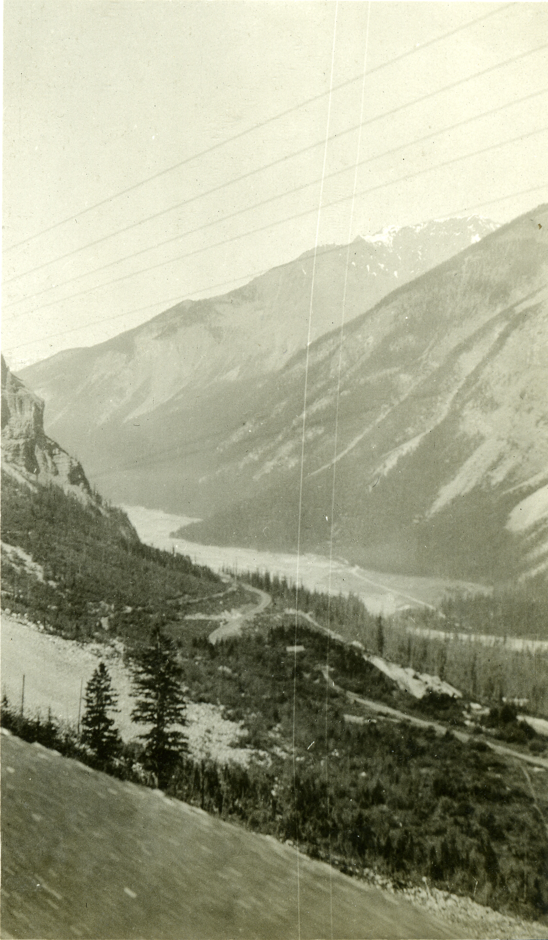 Kicking Horse Valley, c.1915. Douglas's father James Hector surveyed the Rocky Mountains for CPR in the late 1850s.