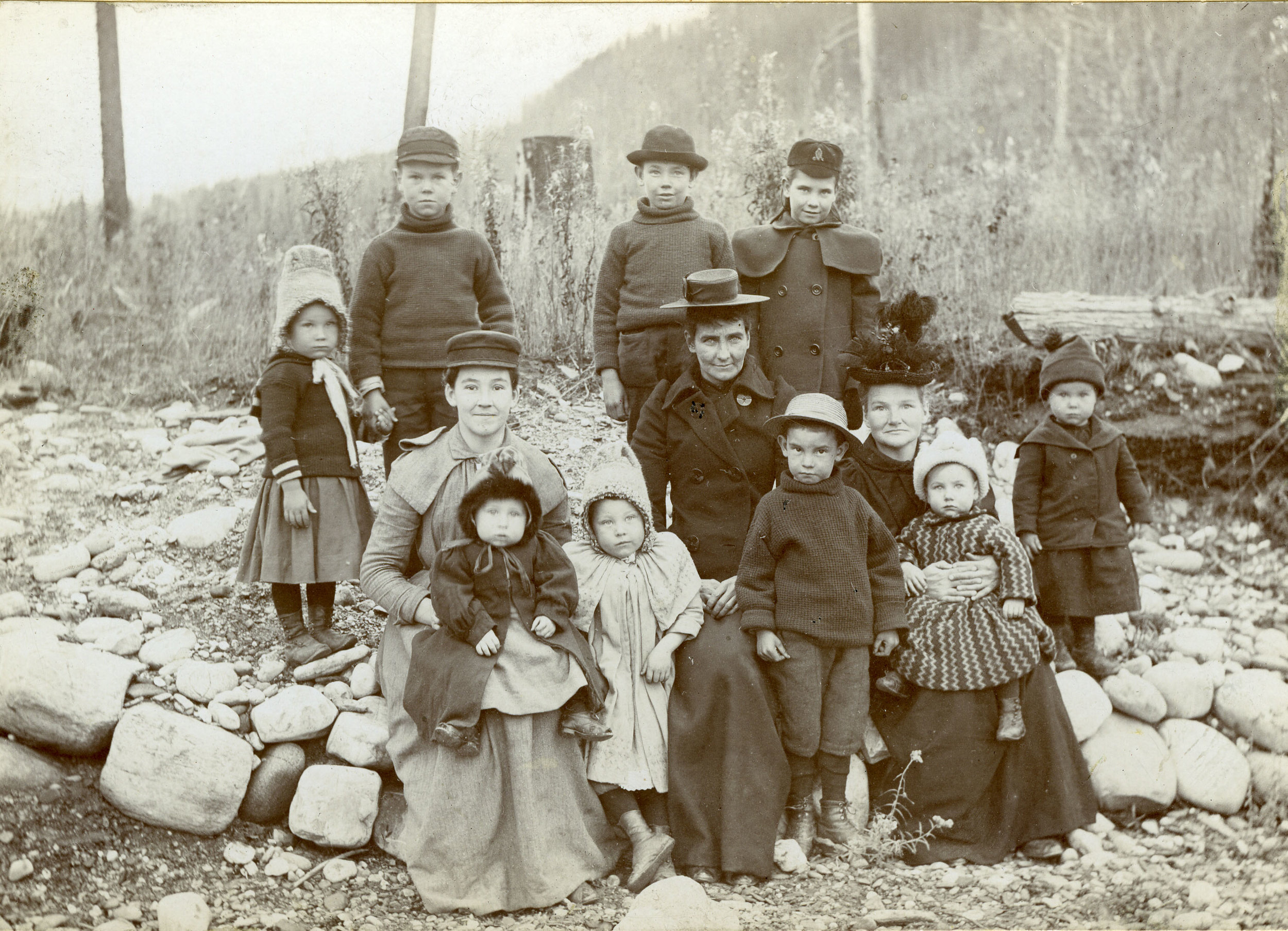 Mrs. Margaret Campbell and family, c. 1898.