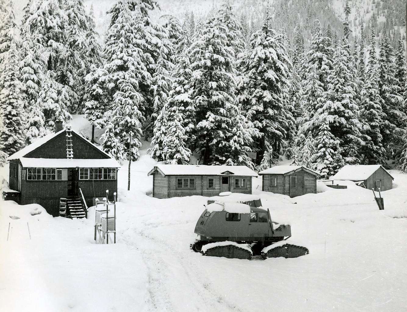 PSA.7 Engineering Camp of public works at Glacier. Quarters of avalanche survey crew. Jan. 1958.jpg