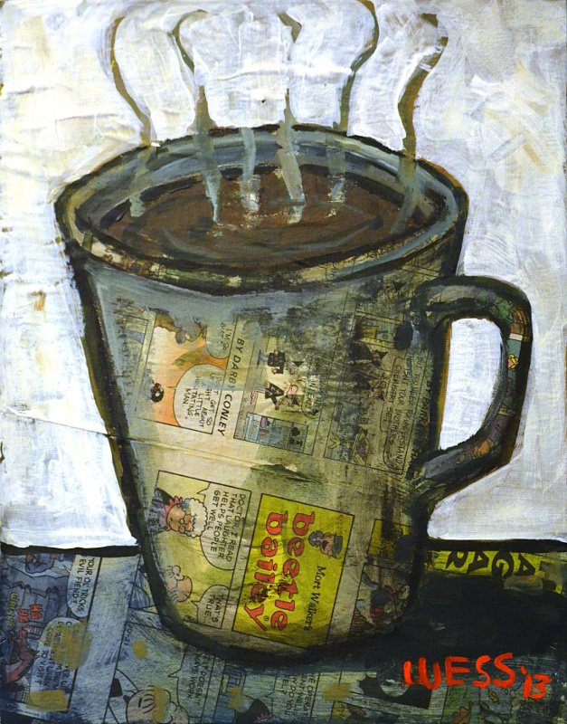 """Morning Cup, 14x11"""", $100"""