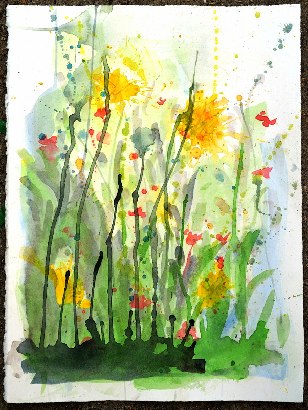 "May Flowers   watercolor, 15x11"", $150"