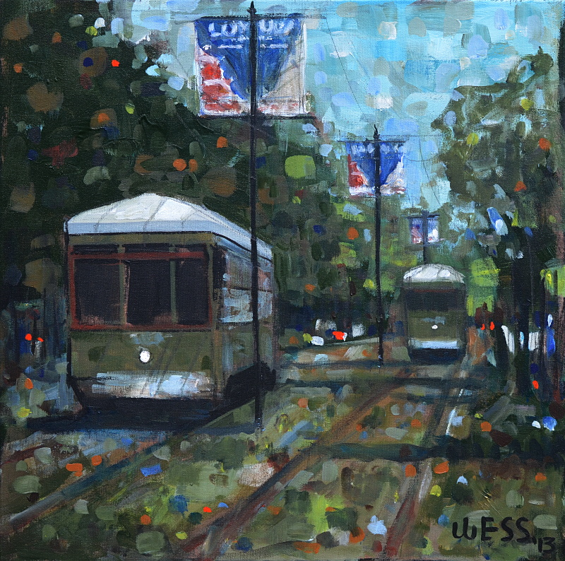 "New Orleans Streetcars #13,  20x20"", SOLD"